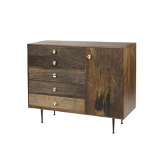 Julian Reclaimed Wood Dresser - contemporary - dressers chests and bedroom armoires - new york - Zin Home Reclaimed Wood Dresser, Solid Wood Dresser, Wood Chest, Modern Dresser, Modern Bedroom Furniture, Contemporary Dressers, Modern Sideboard, Furniture Design, Dining Room Storage