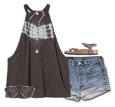 """""""bored"""" by serenag123 ❤ liked on Polyvore featuring RVCA, Topshop, Christian Dior and Birkenstock"""