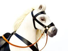 Our big rocking horse Čenda 53 is made from solid pine wood and it comes equipped with a leather harness and a saddle. Solid Wood, Leather Harness, Rocking Horses, Animals, Wood Rocking Horse, White Wood, Products, Animaux, Animales