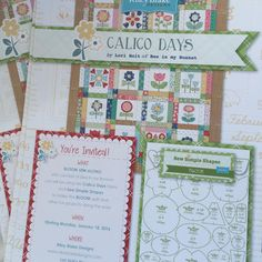 """BOM Calico Days by Lori Holt at Bee In My Bonnet blog - Requires applique stencils purchase (about $23) though """"pattern"""" will be free at Riley Blake website."""