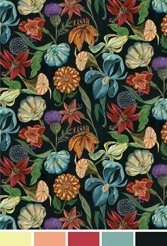 Floral fundo escuro