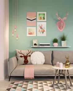 Home Decoration Living Room Mint Living Rooms, Room Decor Bedroom, Interior Design Living Room, Living Room Designs, Living Room Decor, Girl Bedroom Designs, Luxury Interior Design, Interior Shop, Interior Garden