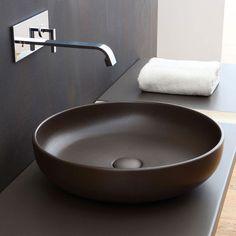 On top bowl diameter 45 colored Basalto Shui - Basin colored bathroom Ceramica Cielo