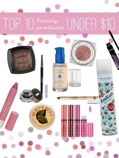 The 10 Best Make Up Products For Under 10$