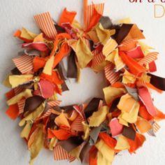 Fabric Scraps Wreath   AllFreeHolidayCrafts.com