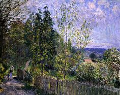 Alfred Sisley (1839-1899) - The Road in the Woods - 1879
