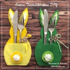 Ostern Tischdekoration DIY - New Ideas Felt Crafts, Easter Crafts, Diy And Crafts, Crafts For Kids, Bunny Crafts, Easter Gift, Easter Table Decorations, Easter Decor, Diy Ostern
