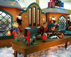 Love the background for Santa's workshop