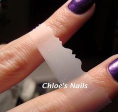 use scrapbooking scissors to tape off a cool design on your nail for a cool manicure. Such a great idea.