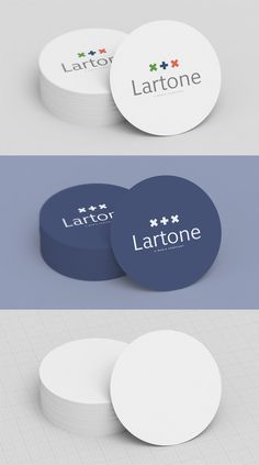 Free – Collection 5 - Mock Up 1 - Round Business Card - Creative Particles