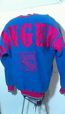 Vintage 90's new york rangers big logo mens size large crew neck sweat shirt