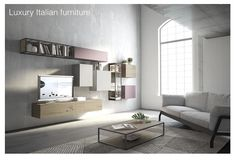 Contemporary italian furniture - Why not look for a sofa in Italian design when investing in one of the home's main furniture? Italian Furniture Stores, Italian Furniture Design, Contemporary Furniture, Italian Living Room, Wall Shelving Units, Modern Wall Units, Italian Sofa, Modular Walls, Design Poster