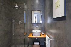 Baños en Microcemento Restroom Colors, Best Bathroom Colors, Modern Shower, Colorful Interiors, Home Interior Design, Home Goods, Home Decor, Bathrooms, Live