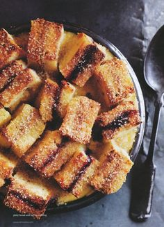 peanut butter and jam bread and butter pudding