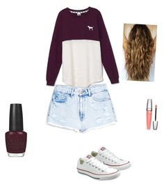 """""""Untitled #42"""" by averyvalclaunch on Polyvore featuring MANGO, Victoria's Secret, Converse, OPI and Lancôme"""