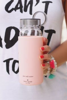 Kate Spade Water Bottle | Love this cute and simple water bottle! Stay hydrated during your workouts!