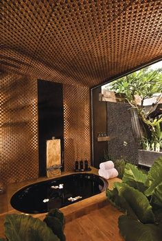 This private Bali villa estate is truly heavenly. In fact, we believe it is the very best Bali luxury villa Spa Luxe, Luxury Spa, Outdoor Spa, Outdoor Showers, Spa Design, Design Ideas, Home Spa Room, Ideas Baños, Outdoor Bathrooms