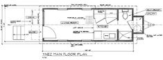 ynez tiny house floor plan 2 Ynez Tiny House on Wheels by Oregon Cottage Company blue prints for sizing Tiny House Plans Free, Tiny House On Wheels, Home Design Magazines, House Blueprints, Building A Shed, Shed Plans, House Floor Plans, Just In Case, House Design