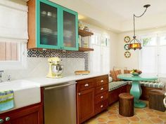 Mediterranean kitchen decorating ideas as mediterranean style kitchen tiles with a selection of furniture to suit the size of your Modern Kitchen Designs so it looks charming 2
