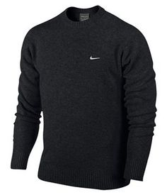 Brand New Nike Golf Crew Neck Pure Wool Sweater Jumper Mens 2013 Lambswool | eBay