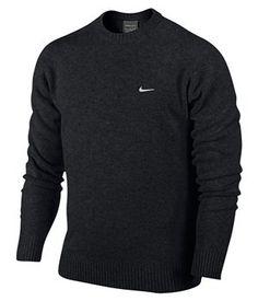 Brand New Nike Golf Crew Neck Pure Wool Sweater Jumper Mens 2013 Lambswool | eBay