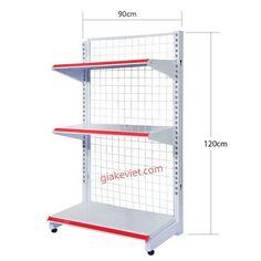 Kệ đơn siêu thị 90cm-120cm mỏng 0.5mm giá rẻ được sản xuất và phân phối bởi Giá Kệ Việt được sơn tĩnh điện cho độ bền cao, chống xước