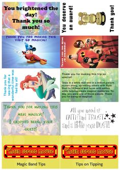Disney craft project: Great selection of Disney printables!