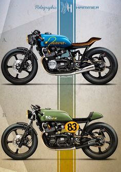 Racing Cafè: Cafè Racer Concepts - Kawasaki GPZ 400 by Holographic Hammer Cafe Bike, Cafe Racer Bikes, Cafe Racer Motorcycle, Moto Bike, Motorcycle Design, Bike Design, Kawasaki Cafe Racer, Kawasaki Motor, Cool Motorcycles