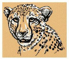 Cheetah 3 machine embroidery design. Machine embroidery design. www.embroideres.com