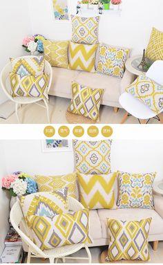 taobao store COEUS. Keyi Si modern minimalist sofa pillow cushion Popper geometric tatami bed linen pillow cushion backrest -tmall.com Lynx