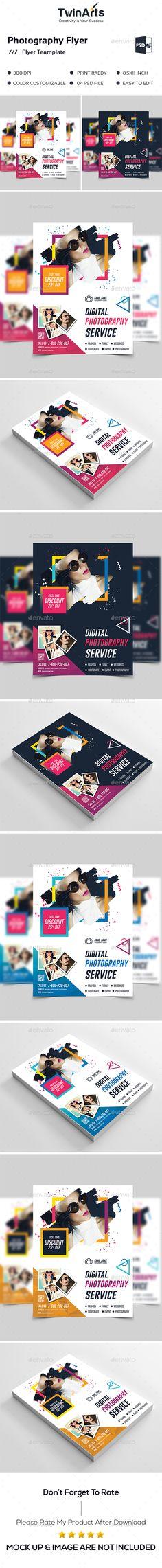 Photography Flyer. - Flyers Print Templates Brochure Template, Flyer Template, Banner Design, Flyer Design, Photography Flyer, Wedding Photography, Flyer Printing, Print Templates, Graphic Design Inspiration