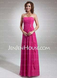 Bridesmaid Dresses - $115.99 - A-Line/Princess Sweetheart Floor-Length Chiffon Bridesmaid Dress With Ruffle Beading (007001085) http://jenjenhouse.com/A-Line-Princess-Sweetheart-Floor-Length-Chiffon-Bridesmaid-Dress-With-Ruffle-Beading-007001085-g1085