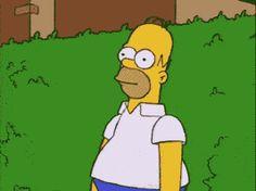 Homer em um Hedge - Os Simpsons Gif animado | Adesivos de telegrama