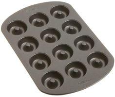 Wilton Nonstick 12-Cavity MINI Donut Pan : Amazon.com : Kitchen & Dining