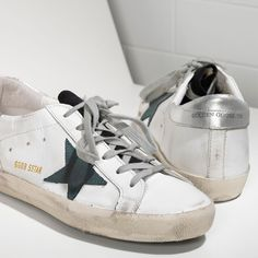 Golden Goose Super Star Sneakers In Leather With Suede Star Men - Golden Goose / GGDB #ggdb #sneaker #fashion #superstar #lifestyle