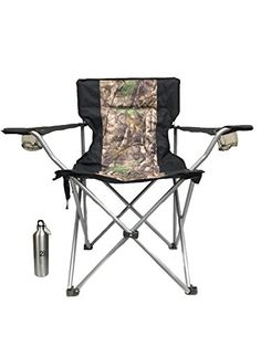 Introducing Heated Folding Camo Chair by HomeStead with Bonus Water Bottle  Great for Camping and Tailgating. Great product and follow us for more updates!