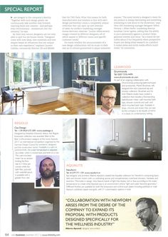 As part of an ongoing collaboration with Drummonds producing bathroomware and accessories, Martin Brudnizki designed a new Leawood tap and shower collection. Essential Kitchen & Bathroom Business November 2017