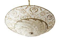 Fortuny lamp, oh how I'd love to have one of these Fortuny Lamp, Ceiling Lamp Shades, Hand Painted, Painted Silk, Venetian, Decorative Bowls, Shabby Chic, Lights, Painting