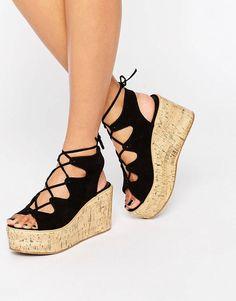 TORCH - Chaussures lacées à semelles compensées