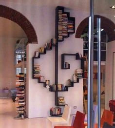 Great idea for a book shelf, especially in a music room