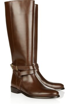 Burberry Shoes & Accessories Leather riding boots NET-A-PORTER.COM