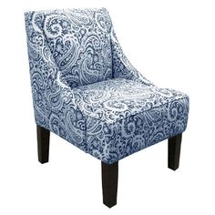 Paisley-upholstered accent chair with pine wood frame. Handmade in the USA.Product: ChairConstruction Material: S...