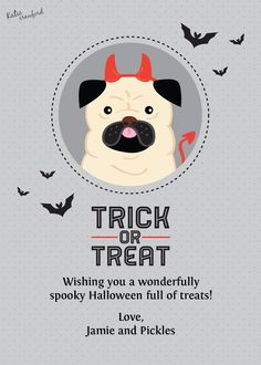 Halloween Pug designed by Katie Crawford on Celebrations.com