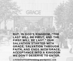 """Grace is defined as """"God's unmerited favor."""" This means we are actually given what we don't deserve and furthermore, we aren't given what we do deserve, """"For the wages of sin is death."""" (Romans 3:23) In his commentary, David Guzik says, """"The system of law is easy to figure out: you get what you deserve. The system of grace is foreign to us: God deals with us according to who He is, not according to who we are."""" #grace #isgodunfair #god #achildshallleadthem #children #salvation #children… David Guzik, Romans 3, You Deserve, Mom Blogs, Teaching Kids, Read More, Parenting, Faith, God"""
