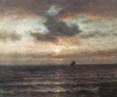 Le Prince Lointain: Jules Dupré (1811-1889), Coucher de Soleil sur la ...