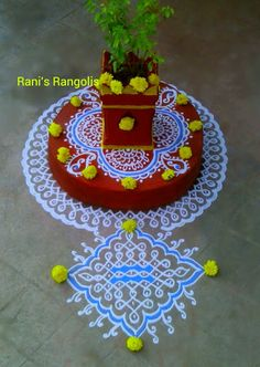 Rani is a popular Rangoli Designer who creates lot of Rangoli's with dots. There are lot of Rangoli designs below which are easy and simpl. Rangoli Side Designs, Simple Rangoli Border Designs, Rangoli Designs Latest, Rangoli Patterns, Free Hand Rangoli Design, Small Rangoli Design, Rangoli Ideas, Rangoli Designs Diwali, Rangoli Designs With Dots