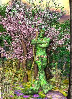 Elemental Forest King; 3D computer graphic art from Bill M. Tracer Studio at Picable: http://www.picable.com/Art/Digital-Art/Elemental-Forest-King.272991