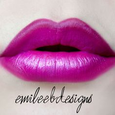 This gorgeous look uses two shades of lipstick - plum and pink. It is made more plump-looking with the use of creamy white pencil liner. Wear this with the products used here.
