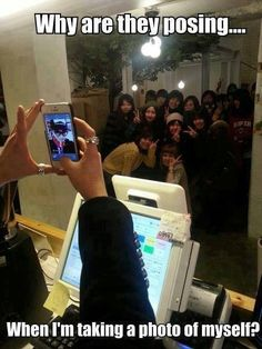 Selfie, Umm why is everyone posing?