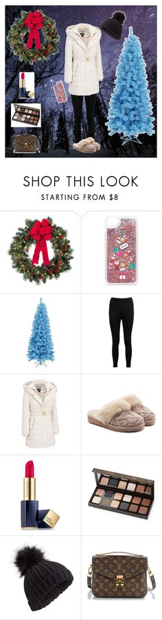 """""""Cozy Winter"""" by bellaclairecassedemont ❤ liked on Polyvore featuring Improvements, Casetify, Boohoo, Kensie, UGG, Estée Lauder, Laura Mercier, Miss Selfridge and Louis Vuitton"""